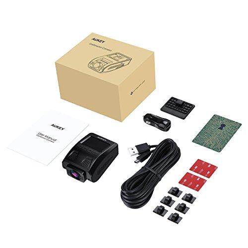 """41C680nCaLL - AUKEY Dashcam, Full HD 1080P Cámara para Coche 170° Grados de Amplio Ángulo con Detección De Movimiento, Visión Nocturna, G-Sensor, Loop de Grabación, 1.5"""" LCD Pantalla (DR02)"""