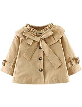 Cappotto Trench da bambina Baby Bowknot Princess Autunno Giacca a vento Cappotto Outwear Highdas Highdas