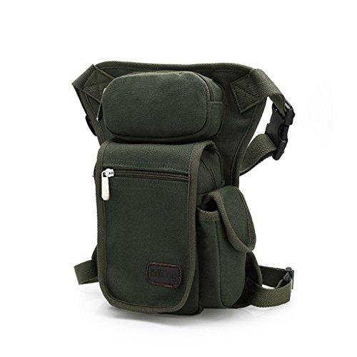 Outreo Marsupio di Tela Borse da Viaggio Borsa da Uomo Sportive Trekking Tasca Outdoor Sport Bag Borsello Escursioni Borse Vintage Esercito per Corsa verde
