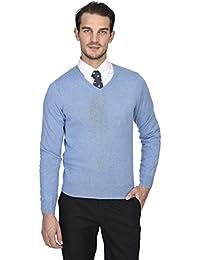 State Cashmere langärmliger Pullover aus 100% reinem Kaschmir mit V- Ausschnitt für Herren 9b5d00879f