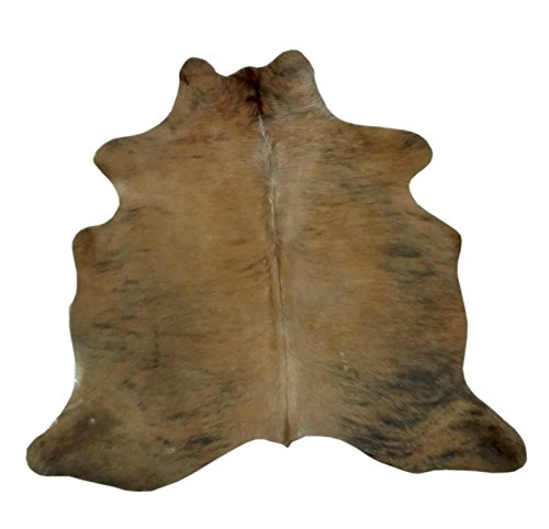 Zerimar Alfombra piel de vaca Medidas: 135x130 cms 100% Natural Ideal para la decoración