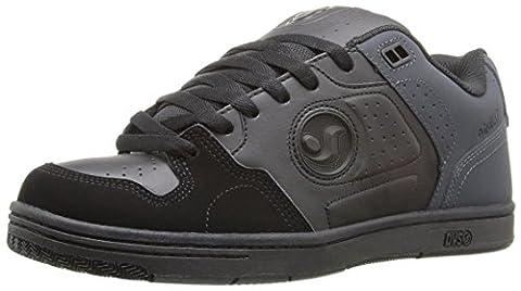 DVS Shoes Discord, Chaussures de Skateboard homme - noir - Black/Grey/Black Nubuck, 42,5 EU EU