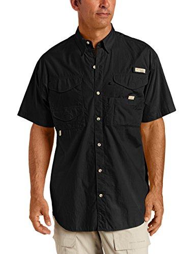 Columbia Men's Bonehead Short Sleeve Fishing Shirt (Black, XLT) -