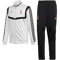 adidas Juventus Polyester, Tuta da Calcio Uomo, Bianco/Nero, L