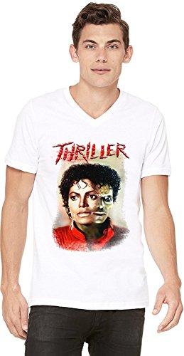 Preisvergleich Produktbild Michael Jackson - Thriller Mens V-neck T-shirt Medium