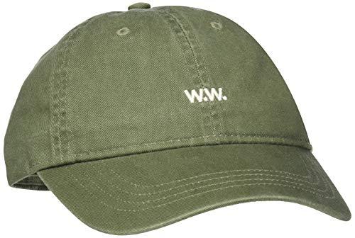 Wood Wood Herren Low Profile Baseball Cap, Grün (Dark Green), One Size Green Low Profile Cap