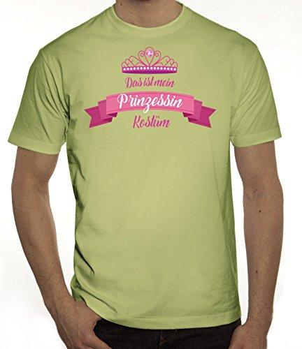 Fasching Karneval Herren T-Shirt mit Das ist mein Prinzessin Kostüm 2 Motiv von ShirtStreet Limone