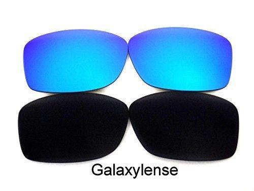 Galaxy Ersatzgläser Für Oakley Jupiter Squared schwarz & blau Polarisierend 2 Paar - Durchsichtig, regular