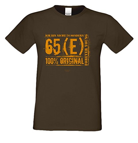 Herren-Geburtstag-Motiv-Fun-T-Shirt Original seit 70 Jahren Geschenk zum 70. Geburtstag oder Jubiläums-Weihnachts-Geschenk auch Übergrößen 3XL 4XL 5XL in vielen Farben braun-14