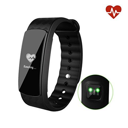 leshp fitness armband uhr mit pulsmesser wasserdicht. Black Bedroom Furniture Sets. Home Design Ideas