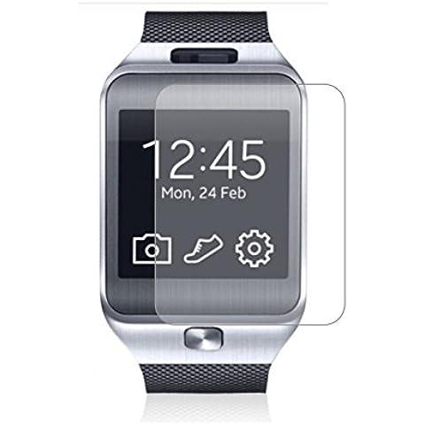 3 x Membrane Protector de Pantalla para Samsung Galaxy Gear 2 - Transparente, Embalaje y accesorios