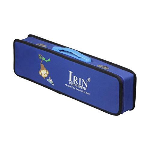 B Baosity 32 Key Melodica Koffer Harmonika Tragetasche Case, 5 Farben zur Auswahl - Blau