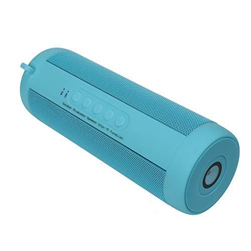 XLZHD Tragbarer Bluetooth-Lautsprecher, Bluetooth-HiFi-Klangqualität LED-Beleuchtung TF-Karte FM-Radio, IPX5-Wasserdichter intelligenter drahtloser Lautsprecher für iPhone, Android und mehr,Blue