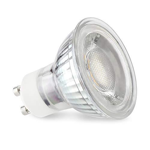 linovum® GU10 LED neutralweiss 6W für 230V - ersetzt 50W Halogen - 1x LED Leuchtmittel Lampen Strahler 4000K 450 Lumen 50°