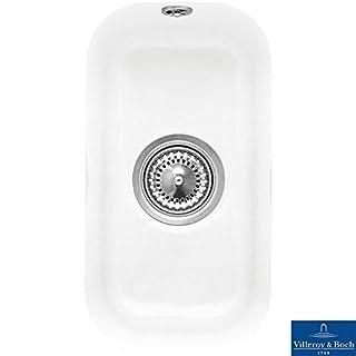 Villeroy & Boch Cisterna 26 0.5 Bowl White Ceramic Undermount Kitchen Sink - NO WASTE