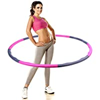 PDR Adjustable Hula Hoop,8-Sections 1kg Weighted Fitness Hoop For Adults And Kids To Exercise In The Simplest And Fun Way