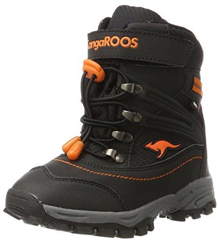 KangaROOS Unisex-Kinder Cabo Schlupfstiefel, Schwarz (Jet Black/Rustic Orange), 34 (Orange Stiefel)