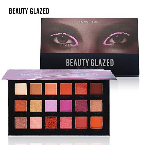 BEAUTY GLAZED Profi Augenpalette 18 Farben Lidschatten Palette Kosmetik Shimmer Matt Glitzer Makeup...