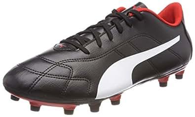 Puma Herren Classico C FG Fußballschuhe, Schwarz Black-White-High Risk Red, 46.5 EU