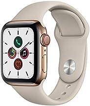 Apple Watch Series 5 (GPS+Cellular, 40 mm) Cassa in Acciaio Inossidabile Oro e Cinturino Sport - Tortora