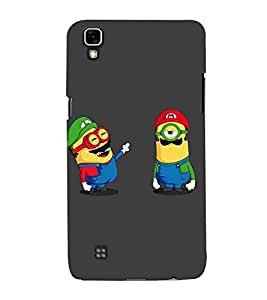 For LG X Power :: LG X Power K220DS K220 yellow cartoon, big eye cartoon, cartoon, black background Designer Printed High Quality Smooth Matte Protective Mobile Case Back Pouch Cover by APEX