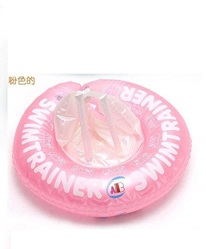 PinWei_ Bambini piscine bugia bambino nuotata Boa ABC infantile bambini sul cerchio sotto il sedile di braccio,Plus size rosa