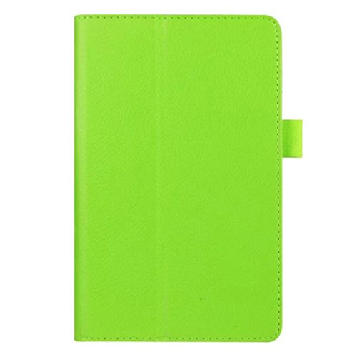 Kingko® Einfache reine Farbe magnetische Verschluss-Flip PU-Leder Bi-fold Standgehäuse Deckel für 7'' Amazon Kindle Fire HD 7 2015 (Green) (Haut-leder-bi-fold)