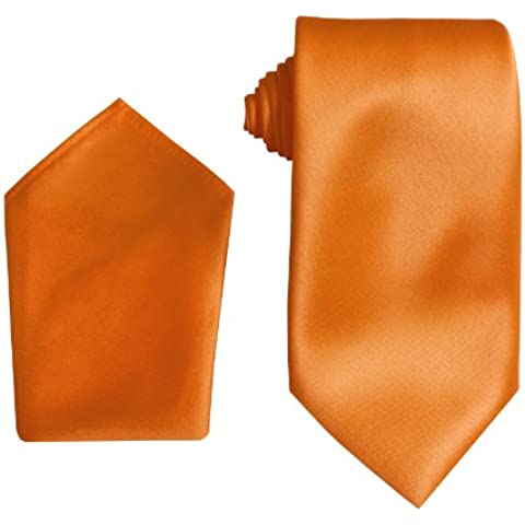 Uomo Raso Satin Cravatta: Compresi Fazzoletto - 24 Colori