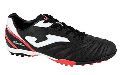 Joma Aguila 613 Turf Schwarz Rot Multinoppen Fussballschuhe, Größe:44, Farbe:Schwarz