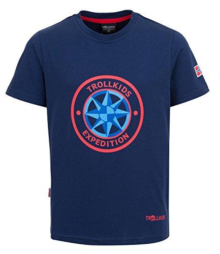trollkids-kinder-schnelltrocknendes-uv-schutz-t-shirt-windrose-t-marineblau-grosse-116