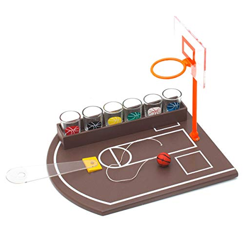 Goods & Gadgets Partyspiel Basketball Trinkspiel Saufspiel mit 6 Schnapsgläsern