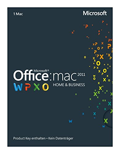 Microsoft Office Mac Home and Business 2011 Product Key Card(2 Macs / 1 Benutzer Deutsch)
