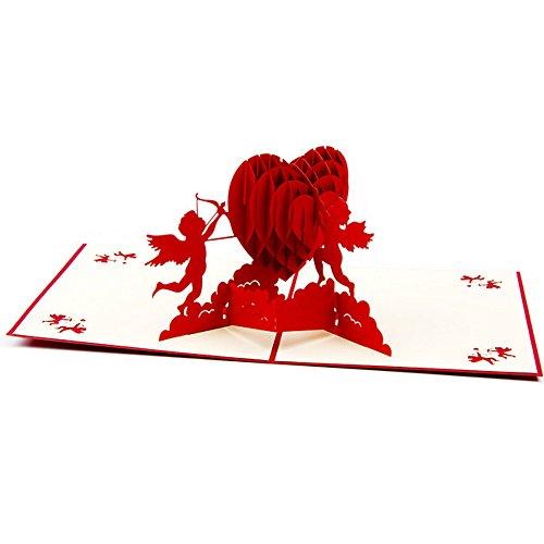 Cheerlife 3D Pop Up Karte Hochzeitskarten Grußkarten für Valentinstag, Heiratsantrag, Hochzeit, Verlobung (Karte 3)