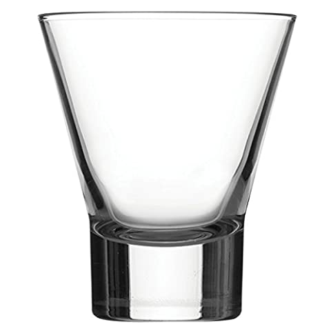 Ypsilon Double Old Fashioned Tumblers 11.8oz / 335ml - Pack of 6 | 33.5cl Tumbler Glasses, Fluted Tumbler, Heavyweight Tumbler, Cocktail Tumbler Glass from Bormioli