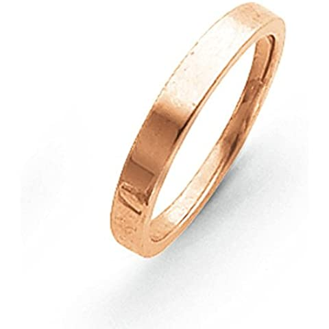 14ct dorato 3mm Tapered lucido anello a fascia–Anello Serie Opzioni Dimensioni: h a P