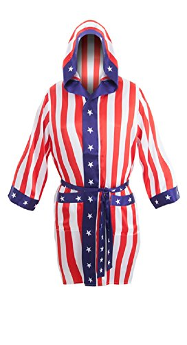 (Rocky Balboa Apollo Movie Boxing American Flag robe)