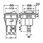 Interruttore-Luminoso-UNIPOLARE-Tondo-65A-250-VAC-per-Macchina-da-Caffe-E-per-Ferro-da-Stiro-con-Caldaia