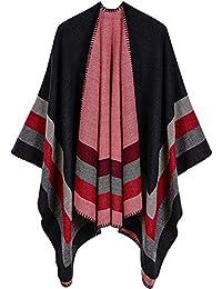 Femme Cape Poncho Extra Large écharpe Châle Blanket Poncho Automne Hiver 667952086b3
