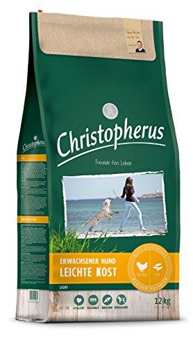 Christopherus Leichte Kost Geflügel, Reis & Gerste, 1er Pack (1 x 12 kg Packung) - Hundefutter