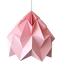 Suspension Origami Moth Rose XL Diam 40 cm Snowpuppe
