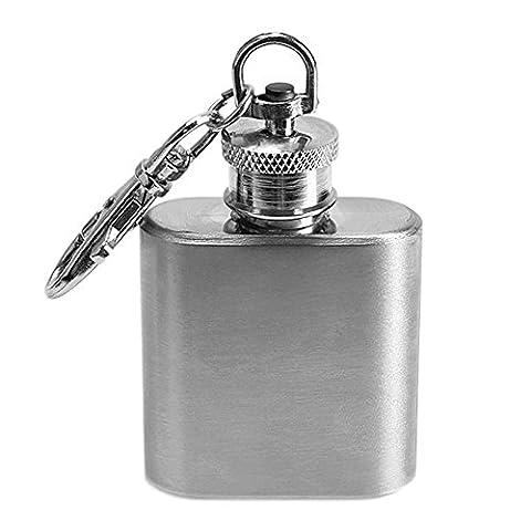 SaySure - 1oz Mini Stainless Steel Hip Flask Alcohol Whiskey Flagon