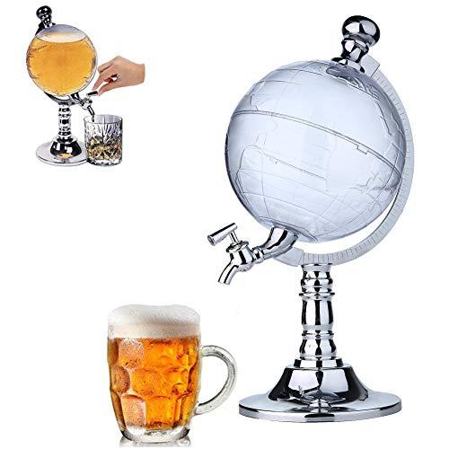 einspender Kreativer Getränkespender mit Zapfhahn 1000cc Große Kapazität Trink Dispenser Container Maschine für Bier Alkoholisches Champagner-Tee-Wasser für Party-Hausbar ()