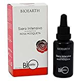BIOEARTH - Bioprotettiva Siero Intensivo di Rosa Mosqueta - Prolungato Effetto Idratante - Assorbimento Rapido - Con Acido Ialuronico - Senza Profumo - Dermatologicamente Testato - Vegan - 30 ml