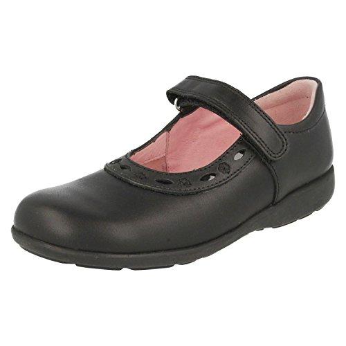 Start Rite Scissors, Chaussures de ville fille Nero (Black Leather)