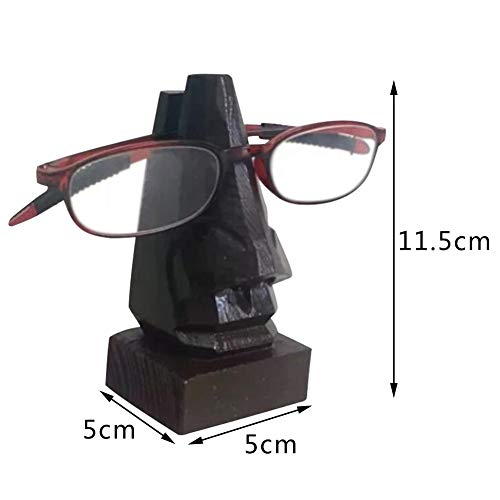 franktea Brillenhalter Handgefertigt Aus Holz Geschnitzt Nase Brillengestell Gläser Geburtstagsgeschenke Für Ihn