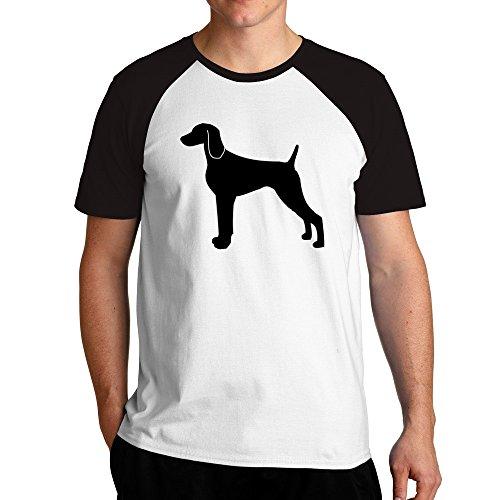 Eddany Weimaraner silhouette Raglan T-Shirt -