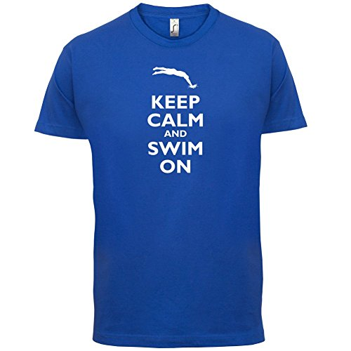 Keep Calm and Swim On - Herren T-Shirt - 13 Farben Royalblau