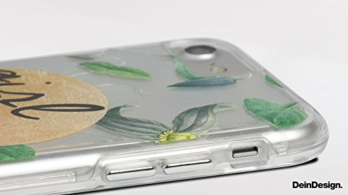 Apple iPhone 7 Bumper Hülle Bumper Case Glitzer Hülle Tiger Fell Tigerfell Bumper Case transparent