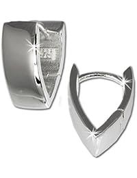 SilberDream Damen-Creolen glanz 925 Sterling Silber SDO329