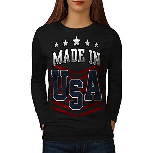 wellcoda Gemacht im USA Frau 2XL Langarm T-Shirt